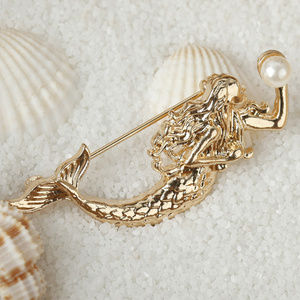 Jewelry - New Mermaid with Pearl Brooch